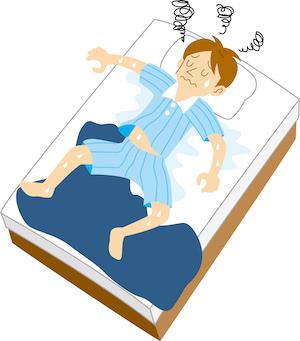 高反発マットレスの密度が高くてもヘタれる原因は寝汗や湿気