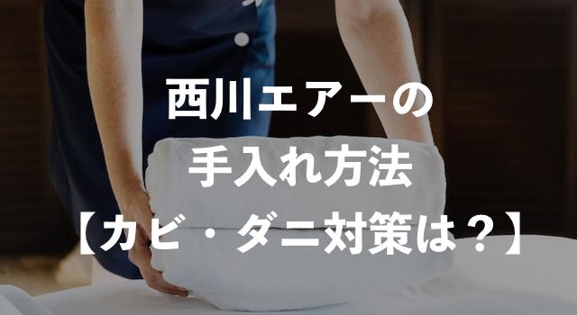西川エアー(air)の手入れ方法!カビやダニ対策は必要?