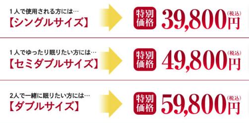 公式サイトの雲のやすらぎの価格