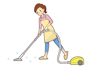 ウレタン臭の取り方③掃除機をかける