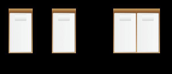 シングルサイズを2つ並べると、ワイドキング