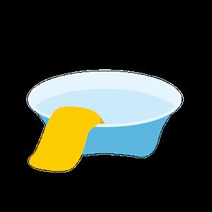 重曹を溶かした水をタオルに染み込ませて該当箇所に押し当てる