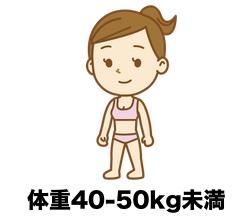 40kg〜50kg