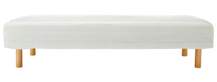 無印のシンプル脚付きマットレスをソファーとして使う方法