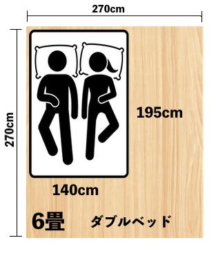 ダブルサイズ(140cm × 195cm)が合う人