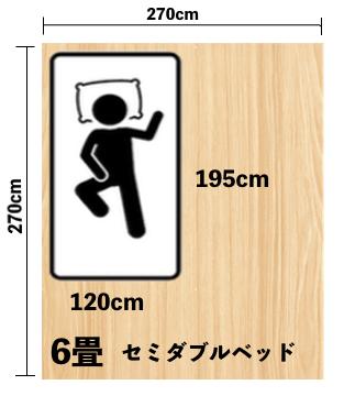 セミダブルサイズ(120cm × 195cm)が合う人