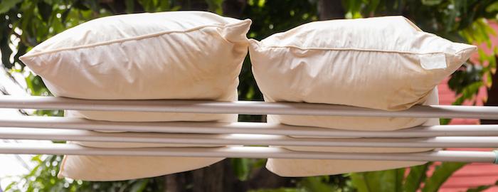 枕の正しい干し方
