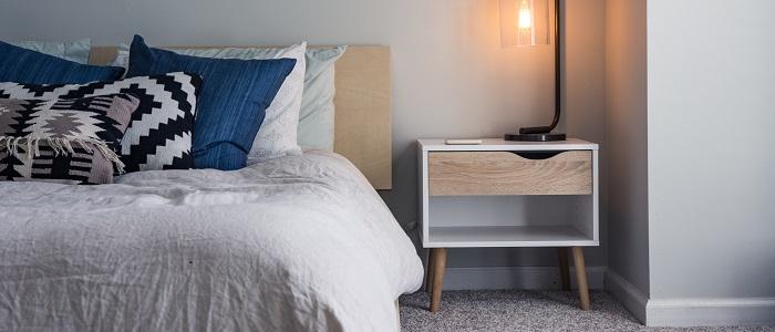 6畳寝室のベッドサイズイメージ